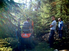 Digging up the septic tank
