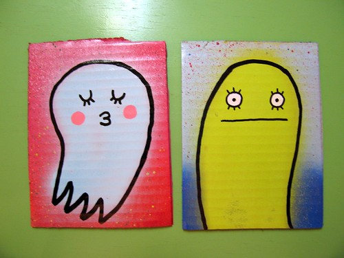 fast paintings #41 & 25
