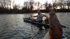 Kayaking fishing on the Colorado