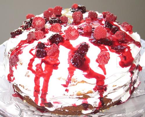 Berry Creme Fraiche Cake
