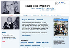 Copie-écran du blogue d'Isabelle Moret