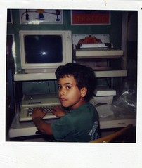 Kid at an Apple IIe