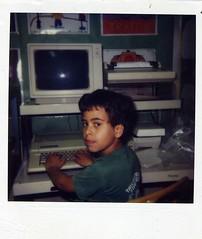 Kid at an Apple IIe