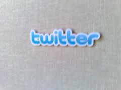 Twitter sticker at Twitter headquarters