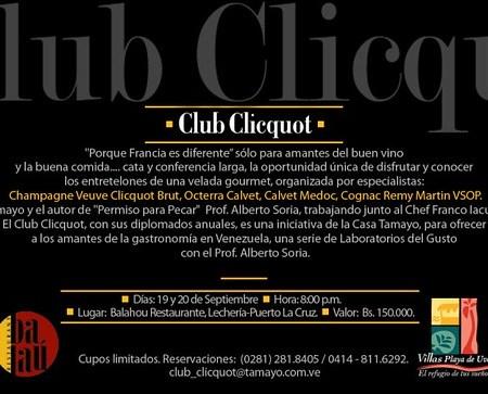Club Clicquot en el Restaurante Balahou