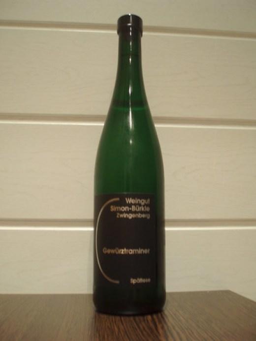 2008 Alsbacher Schöntal Gewürztraminer Spätlese, Weingut Simon-Bürkle Zwingenberg