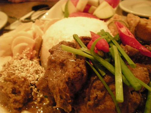 Cafecafe's ayam rendang set