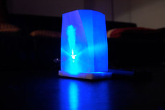 lamp with blue light