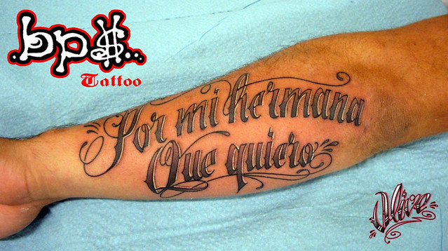 bps tattoo.Script hermana. Tattoo par olive - BPS TATTOO - Nimes