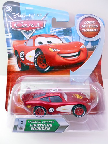 DISNEY CARS KMART COLLECTOR DAY 5  RADIATOR SPRINGS LIGHTNINIG MCQUEEN W FIN (1)