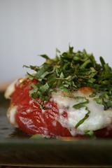 Baked Mozzarella-Stuffed Tomato