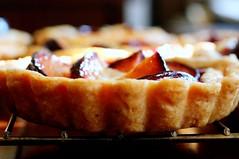 plum-almond tartlets