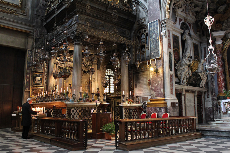 Inside a church in Florence