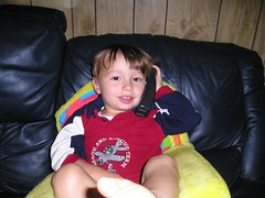 speaking to his aunt in England
