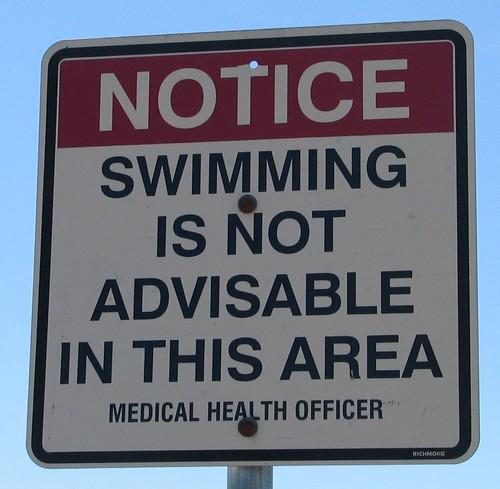 Swim Advisory Steveston July 25 07