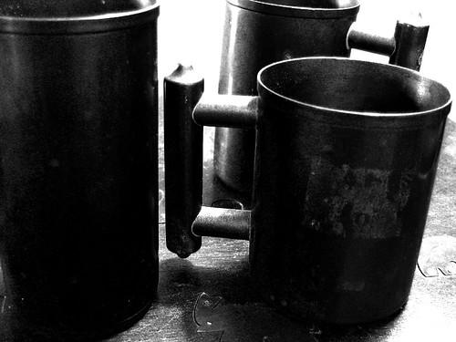 Grandpa Ed's copper cups