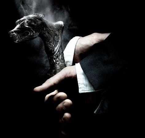 Wolf's head cane