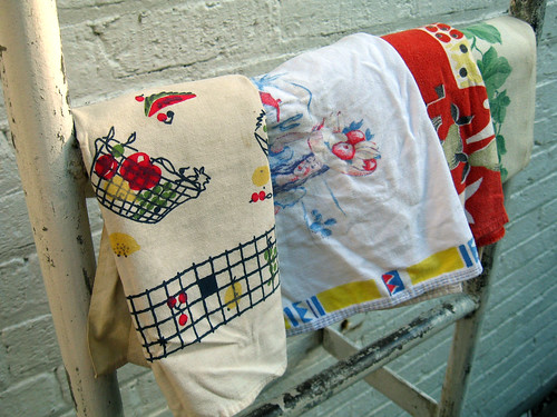 Tea towels and table runner.