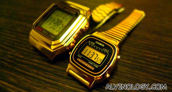 Gold watches for golden memories