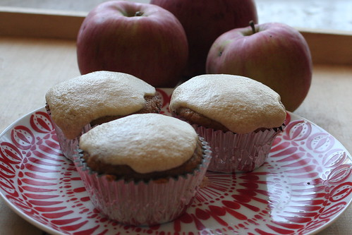 Apple Cupcakes with Caramel Buttercream