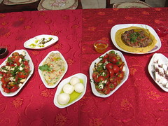 Food at the Druze B&B