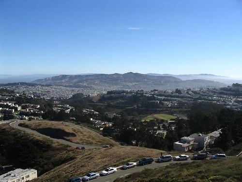 Twin Peaks in San Francisco looking south.
