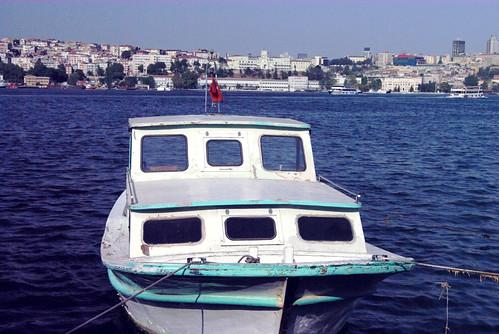 boat in Holden Horn, Istanbul Haliç, Pentax K10D