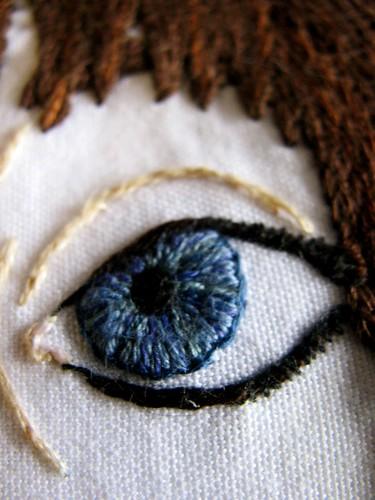 Self at Sea (eye detail)