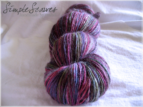 SS Handspun 74/25 BFL/Silk (Single Lace) in Gemstone