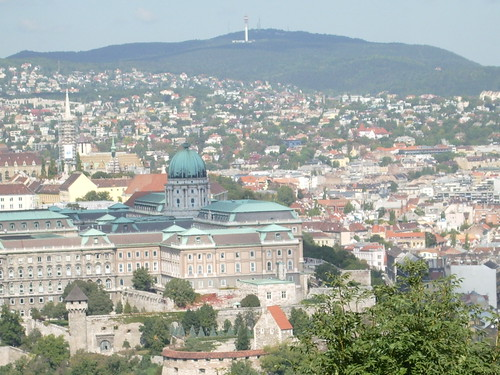 Buda castle seen from Gellert Hill