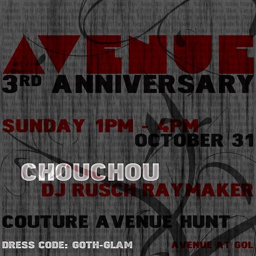 AVENUE 3rd Anniversary