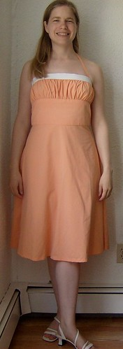 peach sundress front