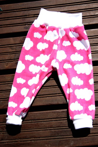 Velour pants, size 62/68cm