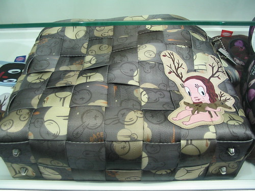 Seatbelt bag designed by Gary Baseman