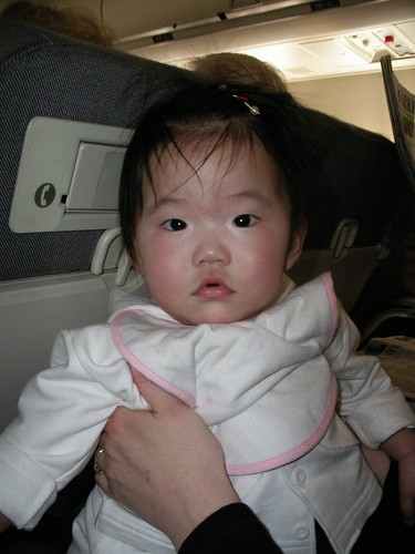 Baby Ji-Seon, about to meet her new parents