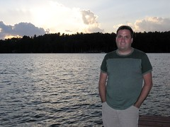 Me in front of the sunset in Eagle River, WI