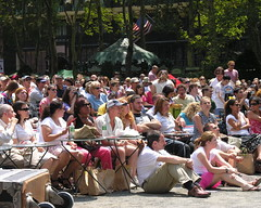 Broadway in Bryant Park audience