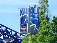Cedar Point - New Millennium Force Banners