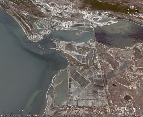 Google Earth image of the site of the Elephant Pass military complex