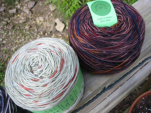 jitterbug skeins moss and copperbeach