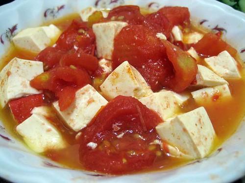 tomato tofu / 蕃茄豆腐
