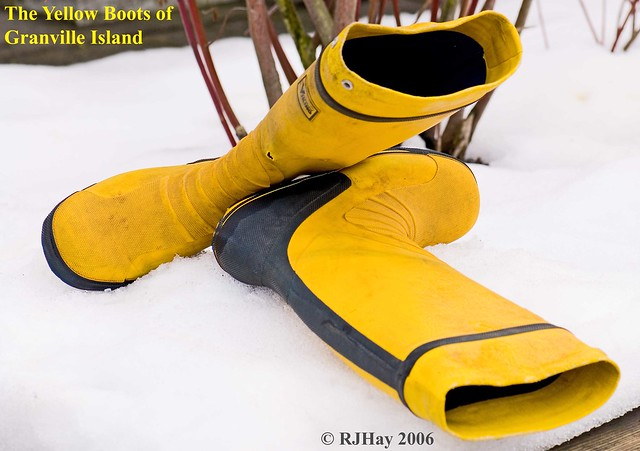 The Yellow Boots of Granville Island