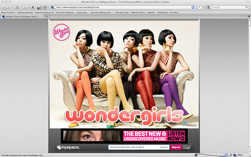 Wonder Girls MySpace