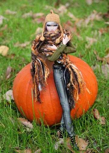 Bundled Up Erin & The Great Pumpkin