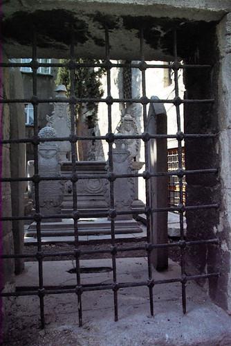 Gravestones in mosques garden, Zeyrek Istanbul, Pentax k10d