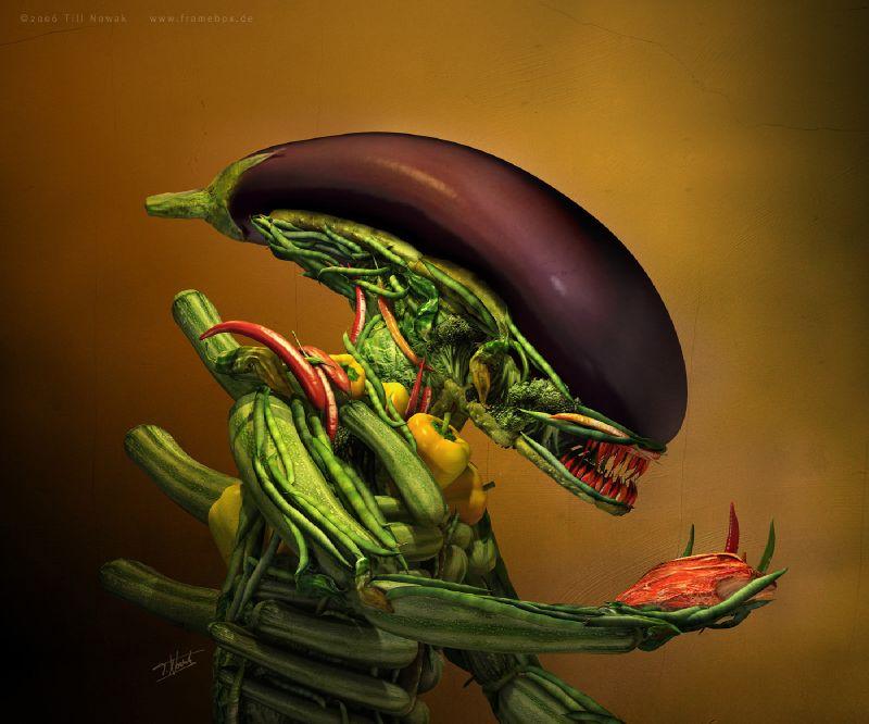 alien arcimboldo
