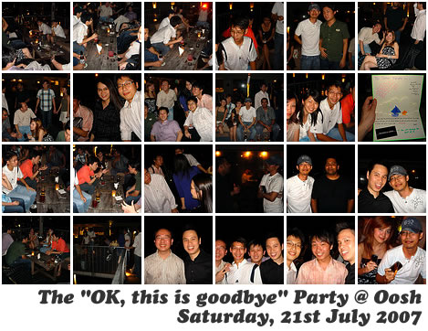 "The ""OK, this is goodbye"" party @ Oosh"