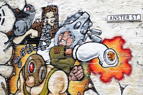 Wall-Art on Anster Street, Adelaide CBD
