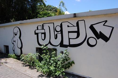 graffiti along the path