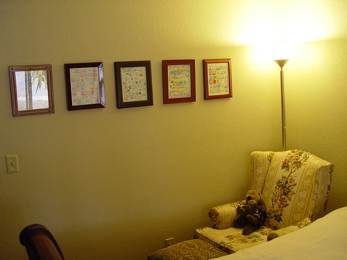 Our room - wall of pictures.